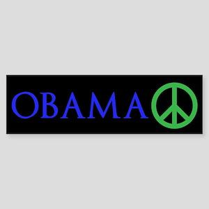 OBAMA PEACE Sticker (Bumper)