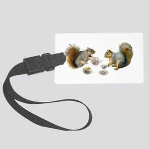 Squirrels Tea Party Large Luggage Tag