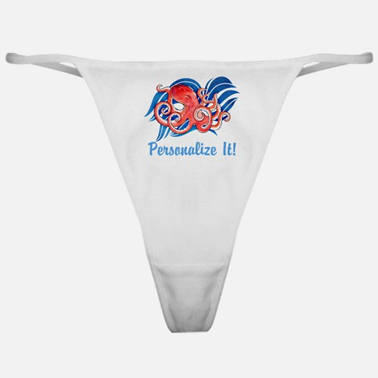 PERSONALIZED Ocean Octopus Classic Thong