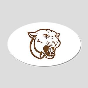 Cougar 22x14 Oval Wall Peel