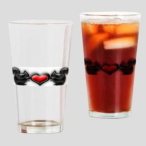 Heart Squirrels Drinking Glass