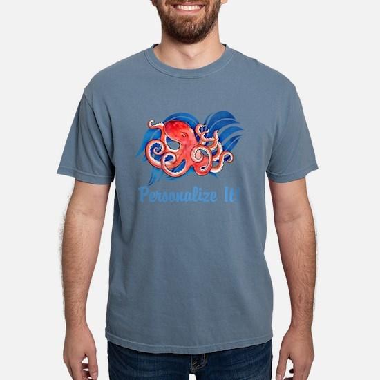 PERSONALIZED Ocean Octopus Mens Comfort Colors Shi