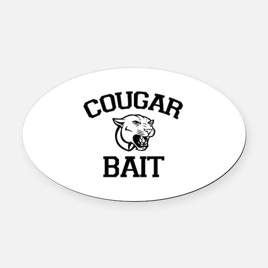 Cougar Bait Oval Car Magnet