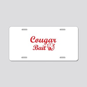 Cougar Bait Aluminum License Plate