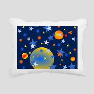 Celestial Stars and Plan Rectangular Canvas Pillow