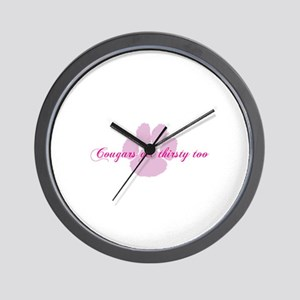 Cougars get thirsty too Wall Clock