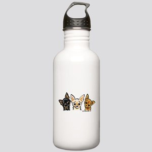 3 Smooth Chihuaha Stainless Water Bottle 1.0L