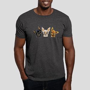3 Smooth Chihuaha Dark T-Shirt