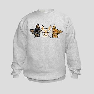 3 Smooth Chihuaha Kids Sweatshirt