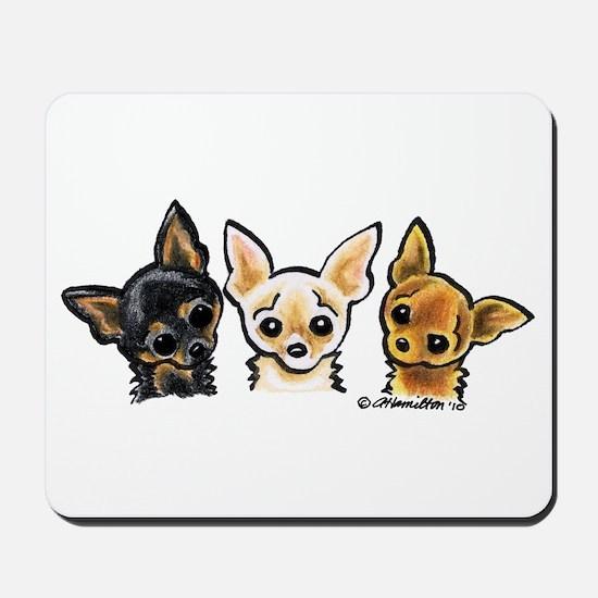 3 Smooth Chihuaha Mousepad