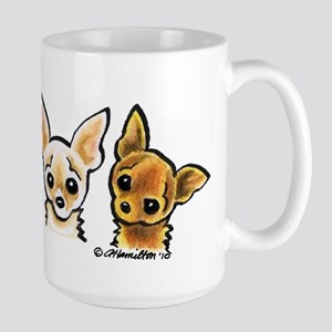3 Smooth Chihuaha Large Mug