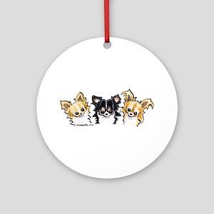 3 L/H Chihuahuas Ornament (Round)