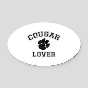 Cougar lover Oval Car Magnet