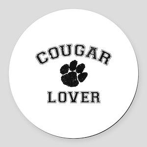 Cougar lover Round Car Magnet