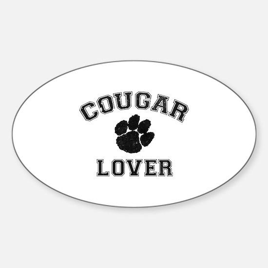 Cougar lover Sticker (Oval)