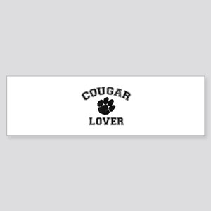 Cougar lover Sticker (Bumper)