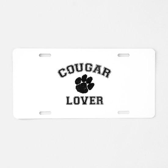 Cougar lover Aluminum License Plate