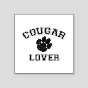 """Cougar lover Square Sticker 3"""" x 3"""""""
