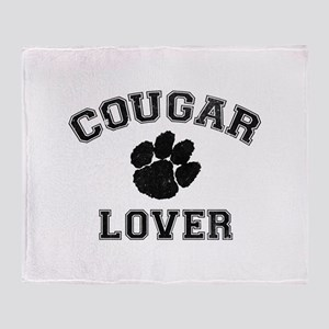 Cougar lover Throw Blanket