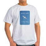 perfect speed is being there - handwritten Light T