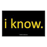 iknow.oval.sticker Sticker (Rectangle 10 pk)
