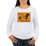 Happy Hollow Wiener Women's Long Sleeve T-Shirt