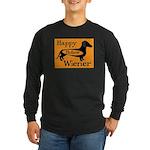 Happy Hollow Wiener Long Sleeve Dark T-Shirt