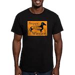 Happy Hollow Wiener Men's Fitted T-Shirt (dark)