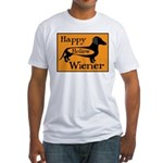 Happy Hollow Wiener Fitted T-Shirt
