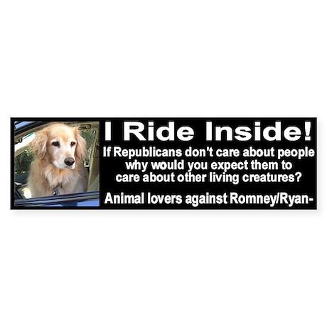 I Ride Inside 2 Sticker (Bumper)