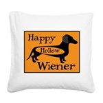 Happy Hollow Wiener Square Canvas Pillow