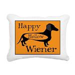 Happy Hollow Wiener Rectangular Canvas Pillow