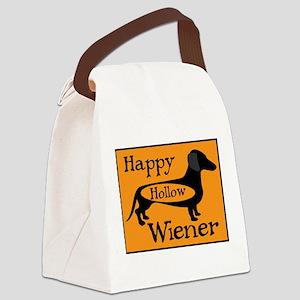 Happy Hollow Wiener Canvas Lunch Bag