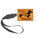 Happy Hollow Wiener Large Luggage Tag