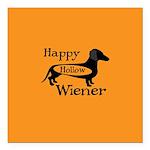 Happy Hollow Wiener Square Car Magnet 3