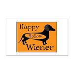 Happy Hollow Wiener Rectangle Car Magnet