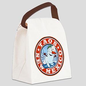 Taos Snowman Circle Canvas Lunch Bag