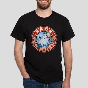 Taos Snowman Circle Dark T-Shirt