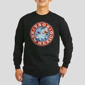 Taos Snowman Circle Long Sleeve Dark T-Shirt