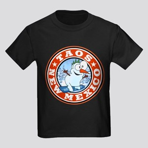 Taos Snowman Circle Kids Dark T-Shirt