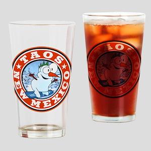 Taos Snowman Circle Drinking Glass