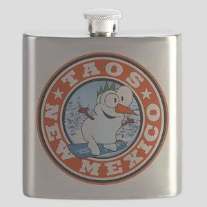 Taos Snowman Circle Flask