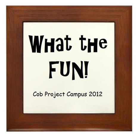 What The Fun! Framed Tile