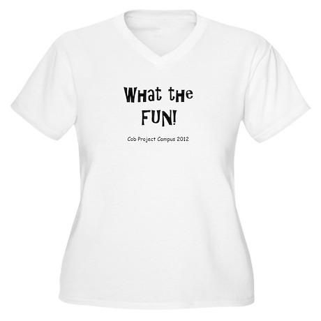 What Fun Women's Plus Size V-Neck T-Shirt