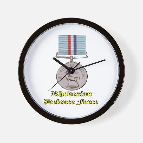 Rhodesian Defence Medal Wall Clock