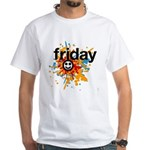 Happy Friday tee shirts - celebrate the weekend Wh
