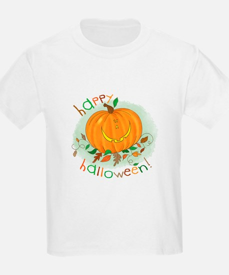 Happy Halloween Pumpkin Kids T-Shirt