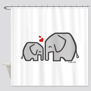 Elephants (4) Shower Curtain