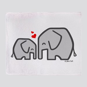 Elephants (4) Throw Blanket
