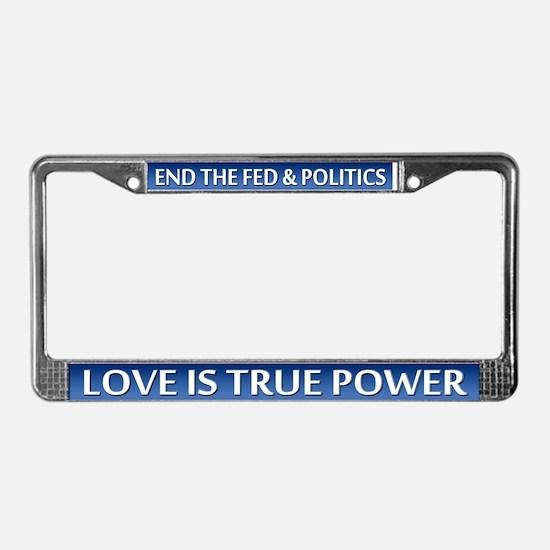 Love Power - License Plate Frame